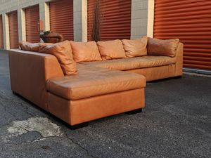 Top Grain Leather Sectional for Sale, used for sale  Atlanta, GA