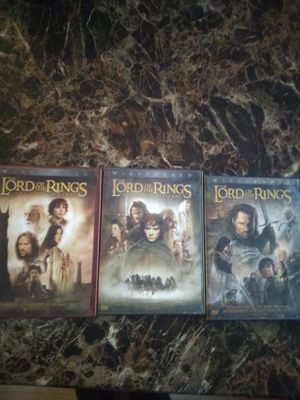 Lord of the rings movies for Sale in Dinuba, CA