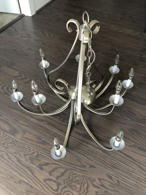 Kichler Dover 32.5-in 9-Light Brushed Nickel Country Cottage Hardwired Candle Chandelier for Sale in Mechanicsville, VA