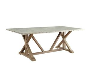 BRAND NEW Metal & Wood Rustic Dining table Restoration Hardware styled for Sale in Newport Beach, CA