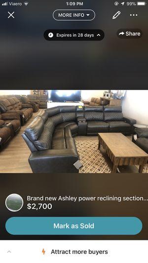 Brand new Ashley power reclining sectional Must go for Sale in Kearney, NE