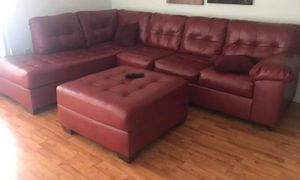 Red leather seasonal for Sale in Miami, FL