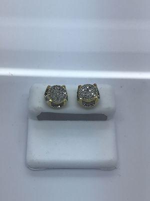 10k yellow gold earrings with .50 carat diamonds new for Sale in Renton, WA