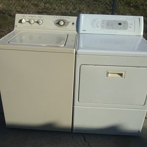 GE 10 Cycle Ultra Capacity (Almond) Washer And Kenmore Ultra Capacity Electric Dryer(White) Works Perfectly And Ready 4 Immed. Use Pic Up Or Curb Del. for Sale in Philadelphia, PA