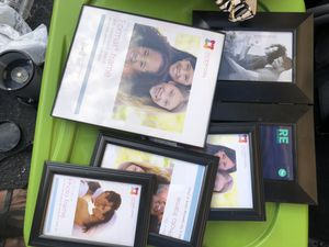 12 piece picture frame set and wall mirror for Sale in Hollywood, FL