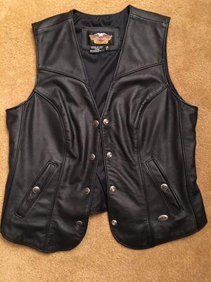 Women's Large Harley Davidson Black leather Vest for Sale in Silver Spring, MD