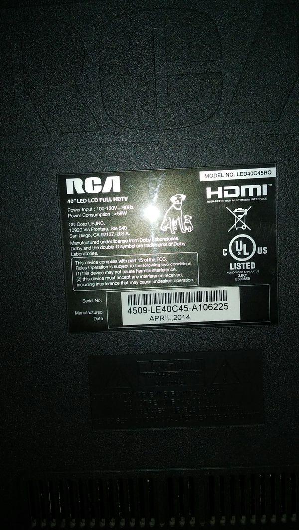 RCA 40 inch flat screen TV