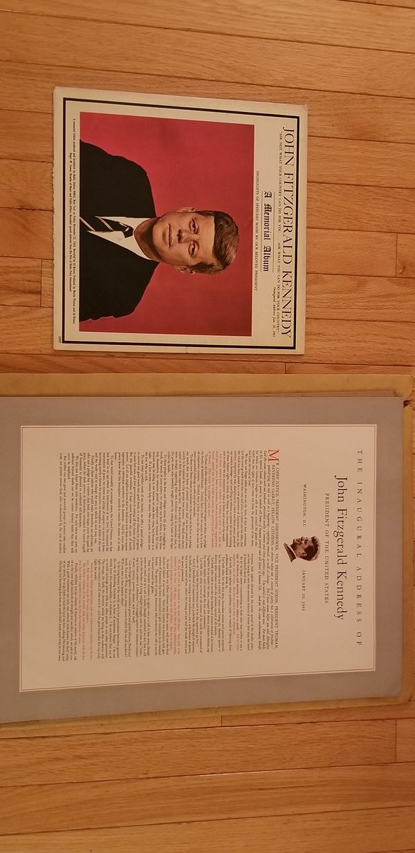JOHN F KENNEDY MEMORIAL ALBUM & INAUGURAL SPEECH