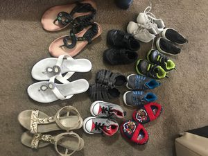 Free kids shoes size 5 and women's sandals size 6 for Sale in Burien, WA