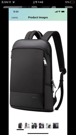 15 inch Super Slim Laptop Backpack Men Anti Theft Backpack Waterproof College Backpack Travel Laptop Backpack for Men Business Laptop Backpack Casual for Sale in Jersey City, NJ