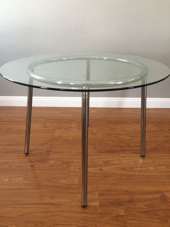 Ikea Glass Round Dining/breakfast table
