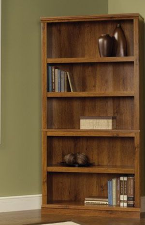 New!! Bookcase, bookshelves, organizer, storage unit , 5 shelves bookcase, shelving display, living room furniture, oak, for Sale in Phoenix, AZ
