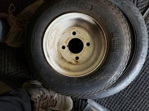 Trailer tires with set of 2 for Sale in Anaheim, CA