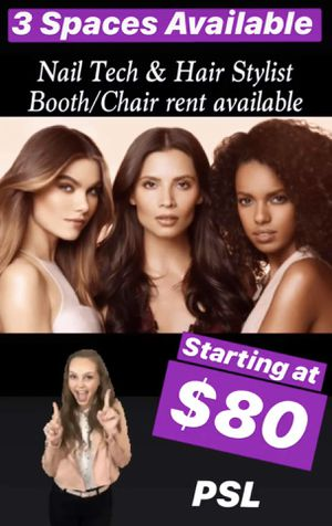 Stylist and Nail tech Salon booth rent for Sale in Port St. Lucie, FL