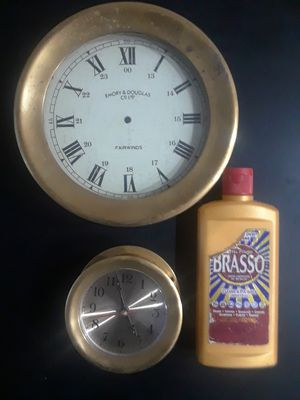 2 Brass Port Hole Clocks for Sale in Tacoma, WA