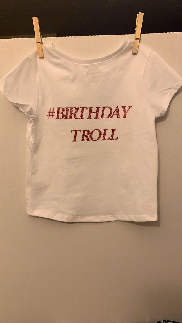 Toddler trolls birthday t shirt