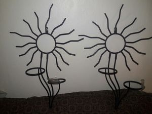 Metal sun wall hanging candle holders for Sale in Salt Lake City, UT
