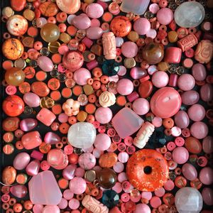 Huge Mix Pink Coral & Gemstone Beads for Sale in Seattle, WA