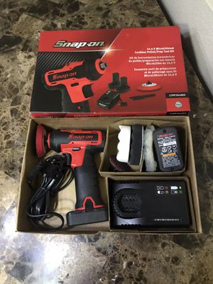 Snap on 14.4 micro-lithium ion cordless polish prep tool grinder for Sale in North Las Vegas, NV