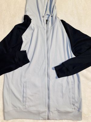 calvin klein Zip Up Jacket Woman's Large Gray Black CK Block Hoodie Sweatshirt for Sale in Duluth, GA