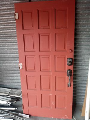 36x80 solid wood door panel with handle for Sale in Oakland Park, FL