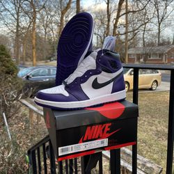 Air jordan 1 Court Purple Size 8 for Sale in Silver Spring,  MD