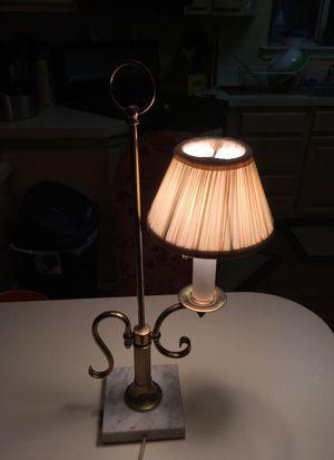 Vintage Brass Lamp, Marble Base for Sale in Philadelphia, PA