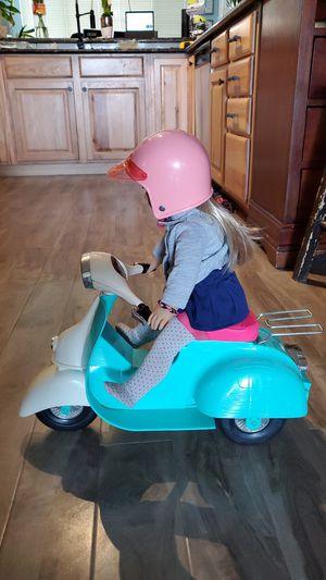 American Girl doll size (non-motorized) scooter and helmet, OG Girl brand for Sale in Phoenix, AZ