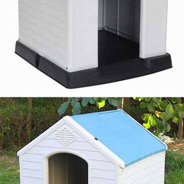 """Brand New $75 Plastic Dog House Medium/Large Pet Indoor Outdoor All Weather Shelter Cage Kennel 35x31x32"""""""