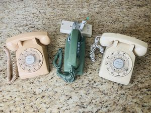 Lot of 3 Vintage Antique Western Electric Bell System Telephones for Sale in Newark, CA