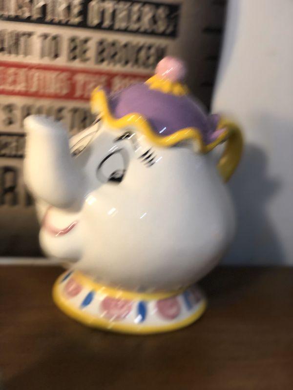 Disney Treasure Craft Mrs. Potts Cookie Jar