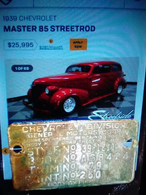 39 Chevy Coupe for sale | Only 3 left at -70%
