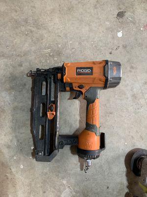 Nail gun ridgid for Sale in Burleson, TX