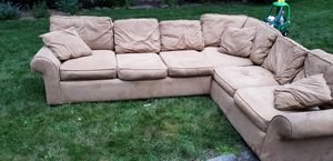 Plush oversized two piece sectional couch / sofa for Sale in Yonkers, NY