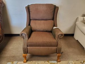 Brown Studded Recliner Wingback Chair for Sale in Denver, CO
