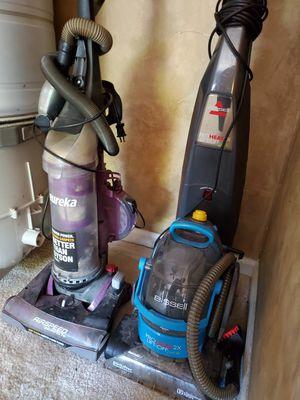 Bissell carpet cleaner and eureka vacuum for Sale in La Vergne, TN