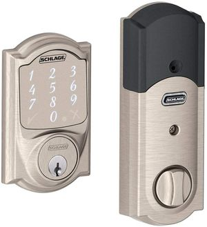 Wave Connect Camelot Touchscreen Deadbolt with Built-In Alarm, Satin Nickel, BE469 CAM for Sale in Brentwood, TN