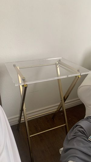 CB2 Acrylic Gold Side Table for Sale in Los Angeles, CA