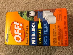 Johnson Off! PowerPad Refills Patio & Deck 3 Refills for Sale in Plainfield, IL