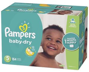 Pampers diapers size 5 Baby Dry for Sale in Downey, CA