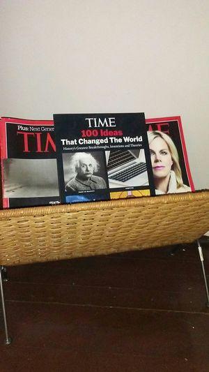 Wicker floor magazine rack for Sale in Lee's Summit, MO
