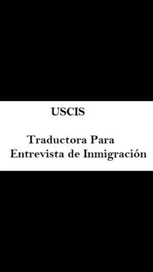 Traductor para entrevista de Inmigracion for Sale in Hialeah, FL