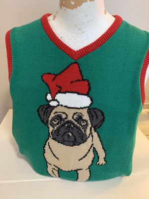 Pug Christmas Sweater Men's size large for Sale for sale  Beaverton, OR