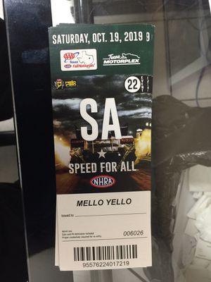 Car race Ticket for Sale in Aubrey, TX