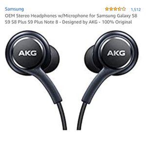 Samsung Earphones by AKG For Galaxy S8 & S8 Plus W Extra Ear Gels for Sale in Las Vegas, NV