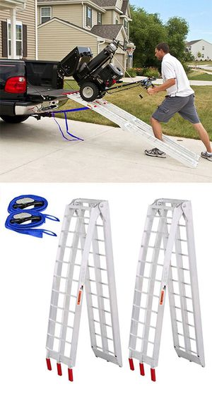 New in box $115 Pair 7.5ft Aluminum Motorcycle Folding Loading Ramp Street Dirt Bike 1500Lbs Rated for Sale in Whittier, CA