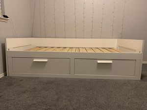 Like new twin-size trundle bed, 2 drawers for Sale in Sacramento, CA
