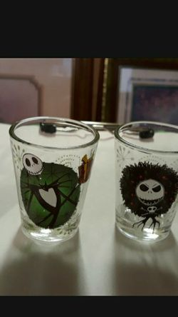 CA. DISNEY TIM BURTON'S THE NIGHTMARE BEFORE CHRISTMAS SHOT GLASSES. NOT USED for Sale in San Bernardino,  CA