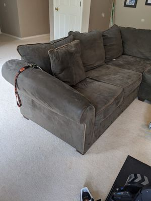 L shaped sectional couch and ottoman for Sale in Camas, WA