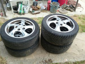 1999 set of rims and tires for Porsche Boxster for Sale in Los Angeles, CA